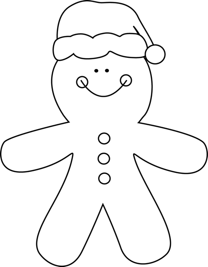 Black And White Gingerbread Clipart | Search Results | Calendar 2015