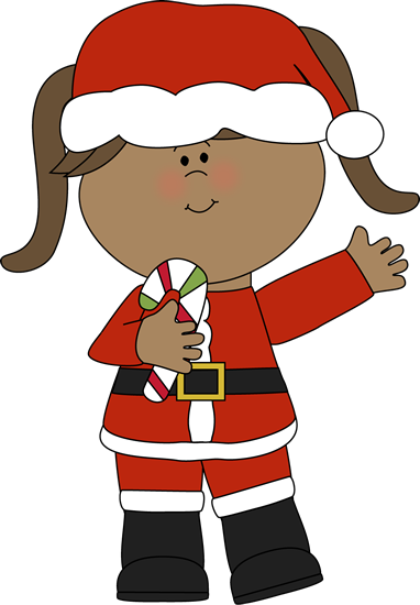 Girl Santa with a Candy Cane