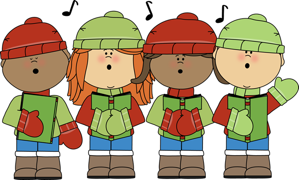 Image result for kids christmas carolers clipart