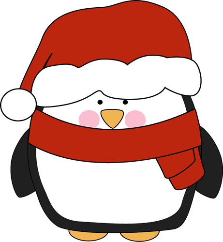 Penguin in a Santa Hat