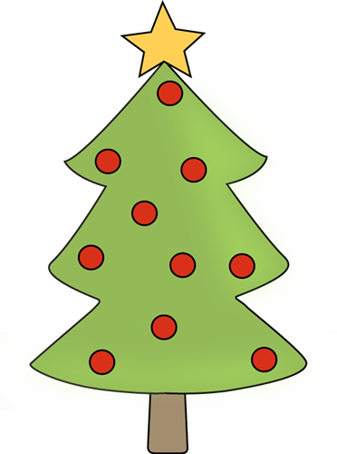 Red Ornament Christmas Tree Clip Art - Red Ornament ...