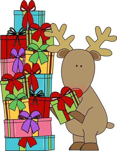 reindeer and christmas gifts clip art reindeer and christmas gifts rh mycutegraphics com christmas gifts border clipart christmas gifts clipart free