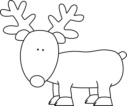 Black and White Reindeer