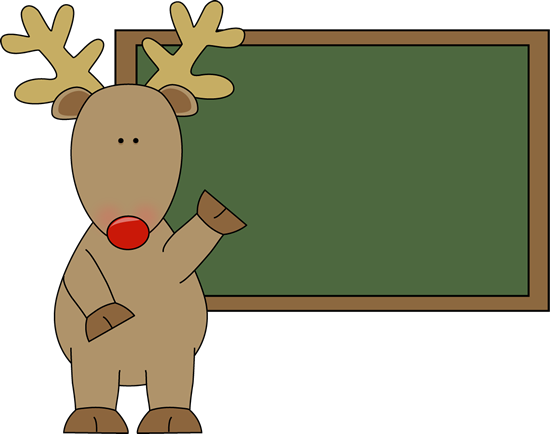 Reindeer and Chalkboard