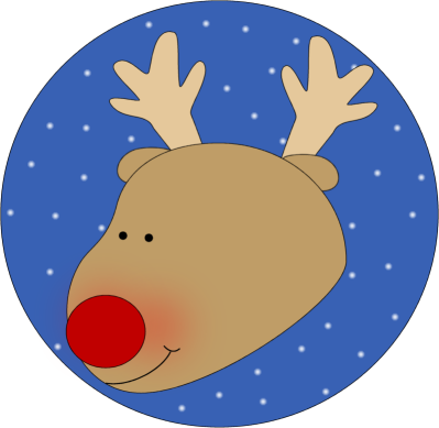 Cute reindeer head clipart - photo#10