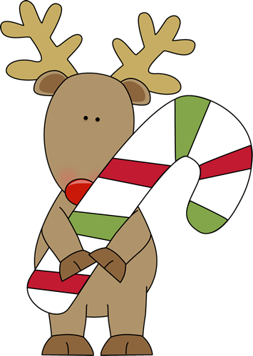 Reindeer Holding a Candy Cane