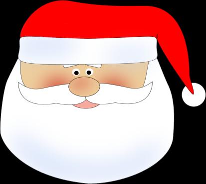 Santa Head Clip Art Image