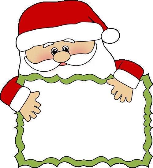 Clip Art Clipart Santa santa sign clip art image sign