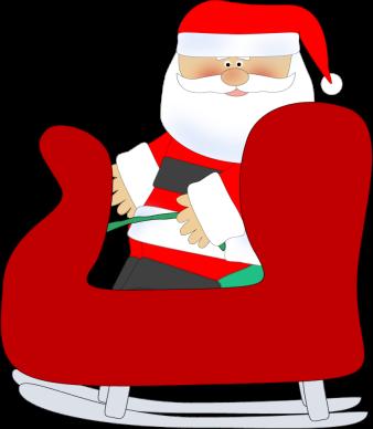 Santa in a Sleigh Clip Art