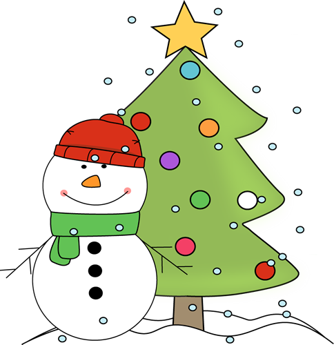 Clip Art Christmas Clip christmas clip art images snowman and tree in the snow