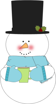 Snowman Drinking Hot Cocoa