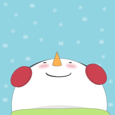 Snowman Watching the Falling Snow Clip Art - Snowman ...