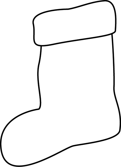 Christmas Stocking Clipart Black And White | quotes.lol-rofl.com