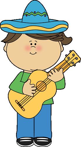 Cinco De Mayo Girl with a Guitar