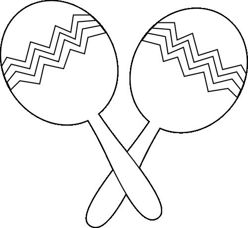 Black and White Maracas