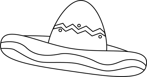 free sombrero coloring pages - photo#27
