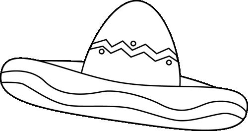 Black and White Sombrero