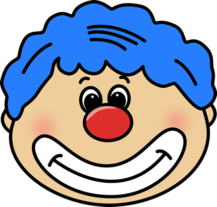 Circus Clown Face Clip Art