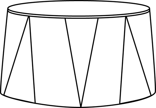 Black and White Circus Stool
