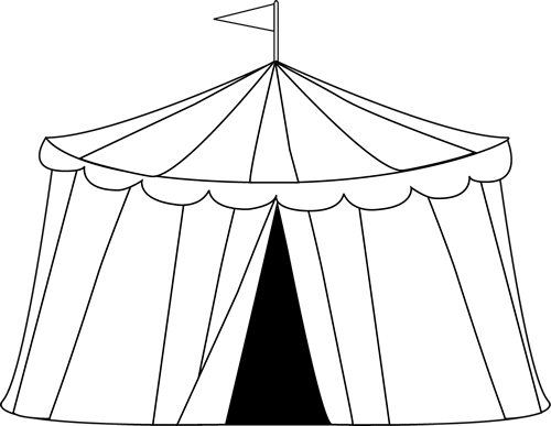 Black and White Circus Tent  sc 1 st  MyCuteGraphics & Black and White Circus Tent Clip Art - Black and White Circus Tent ...