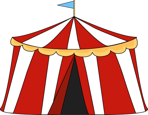 Circus Tent Clip Art Image - red and white striped circus tent with a blue flag on the top of the tent.  sc 1 st  MyCuteGraphics & Circus Tent Clip Art - Circus Tent Image