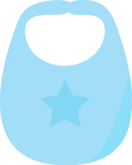 Blue Baby Bib