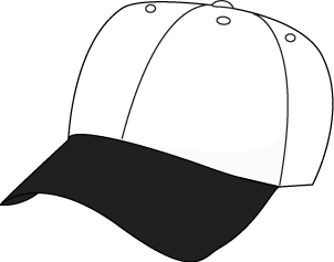 Clip Art Baseball Hat Clipart hat clip art images black and white baseball hat