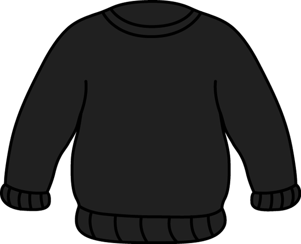 Black Sweater Clip Art