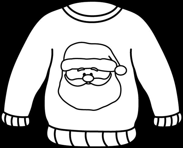 Black and White Santa Sweater
