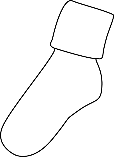 Black and White Sock Clip Art