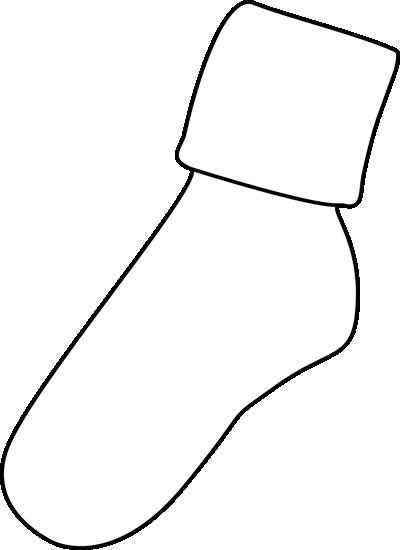 Black and White Sock Clip Art