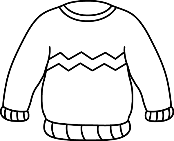 Ugly Christmas Sweater Coloring Pages To Print For Free Sweater Coloring Page