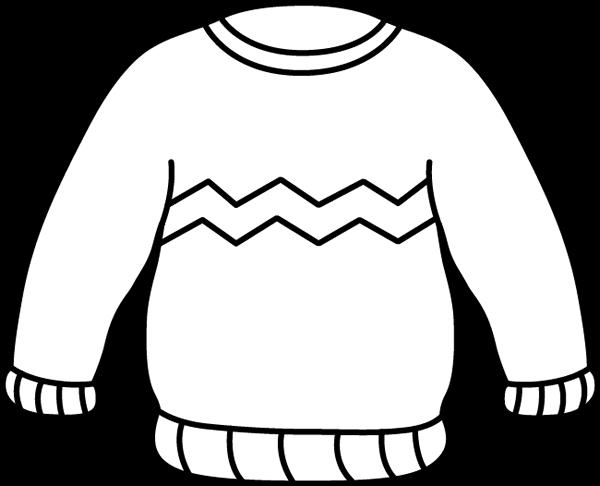 Black and White Zig Zag Sweater