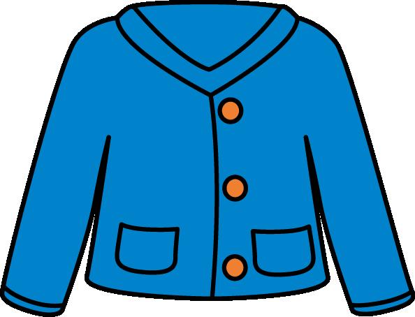 Blue Cardigan Clip Art