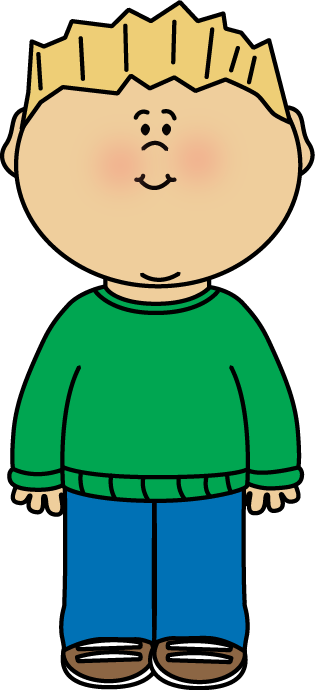 Boy Wearing a Sweater Clip Art