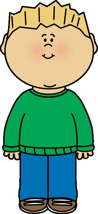Boy Wearing a Sweater Clip Art
