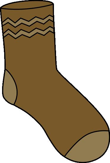 Brown Sock Clip Art
