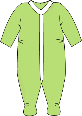 Green Footed Pajamas Clip Art Green Footed Pajamas Image