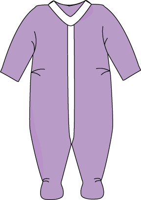 Purple Footed Baby Pajamas