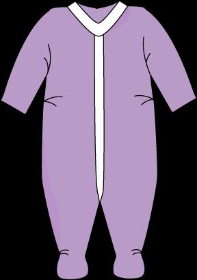 Purple Footed Baby Pajamas