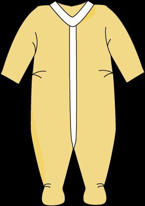 Yellow Footed Baby Pajamas