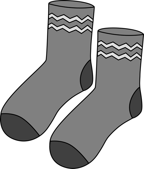 Gray Pair of Socks Clip Art