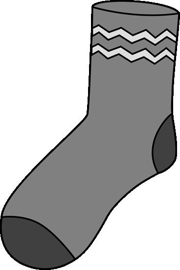 Gray Sock Clip Art