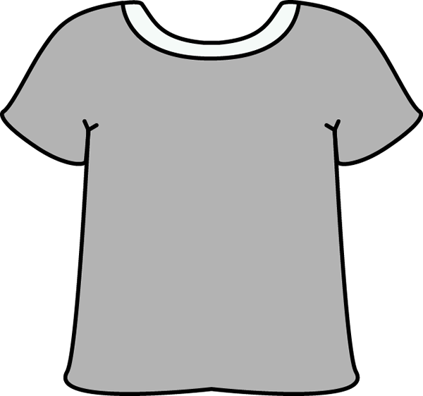 Gray Tshirt with a White Collar