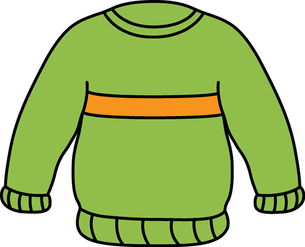 Green and Orange Sweater Clip Art