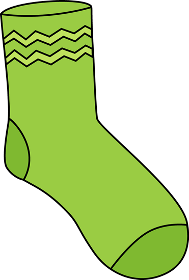 Green Sock Clip Art