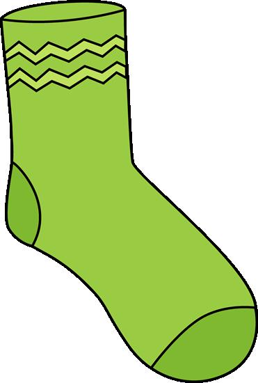 Green Sock Clip Art