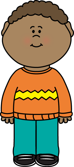 Kid Wearing a Sweater Clip Art
