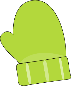 Green Single Mitten