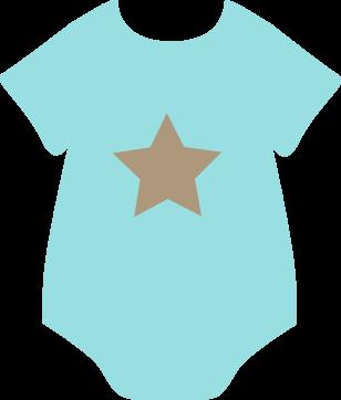 Brown Star Onesie